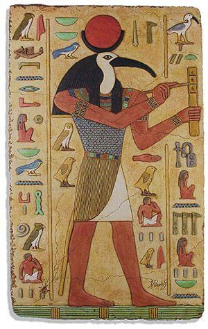 Thot dios egipcio de la sabiduria con cabeza de ibis