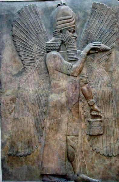 dios sumerio alado
