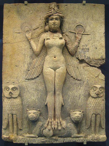 Inana diosa alada sumeria