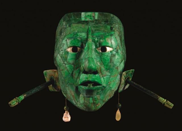 Máscara funeraria prehispánica