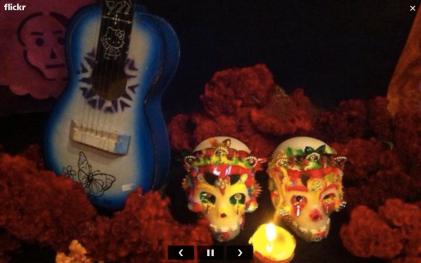 Ofrenda Dia de Muertos flickr dos calaveras azucar