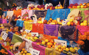 ofrenda dia de muertos flickr naranjas y frutas