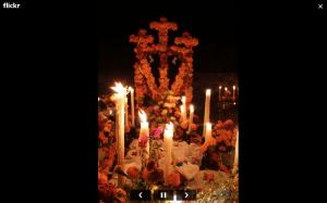 ofrenda dia de muertos flickr velas flores