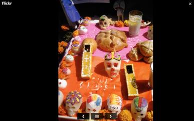 ofrenda dia de muertos pan calaveritas bebida flickr