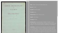 Tizimin, Libro de Chilam Balam maya INAH