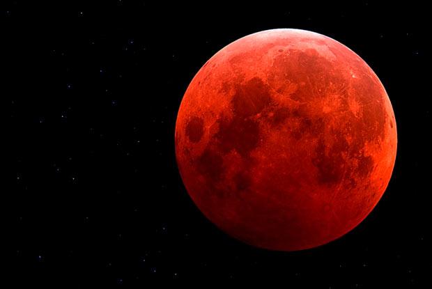 Eclipse lunar total em Abril 15 2014 (Brasil)