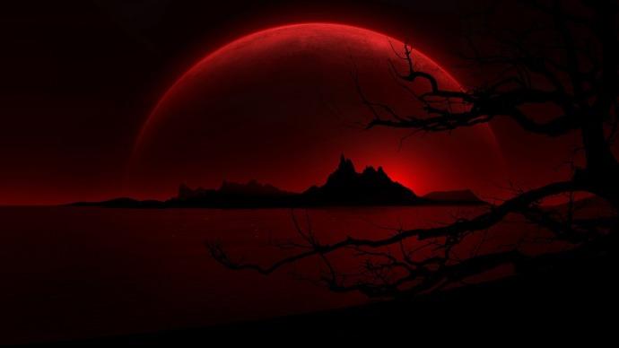Eclipse total de luna roja