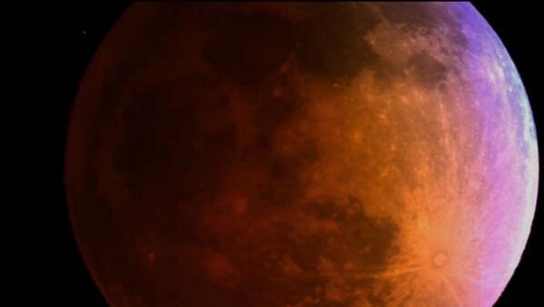 La #lunaroja del #PrimerEclipseDel2014