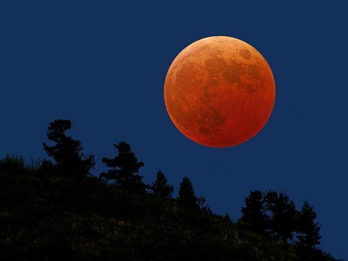 Lunas de sangre Eclipse total de Luna