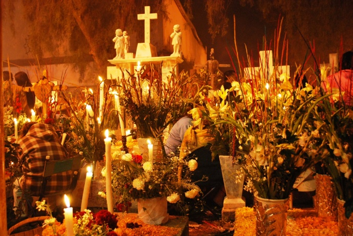 ofrenda dia de muertos mixquic Angelina Mendez