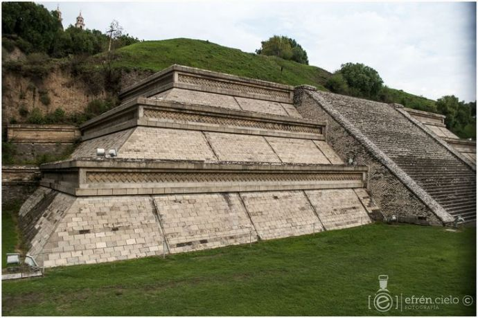 Piramide de Cholula detalle