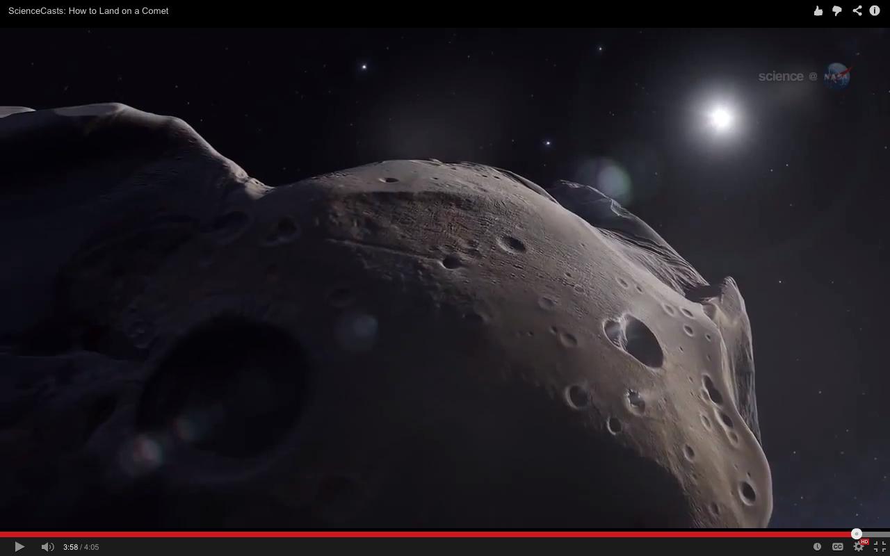 ATERRIZAR EN UN COMETA, ALGO RIDÍCULAMENTE DIFÍCIL: NASA VIDEO