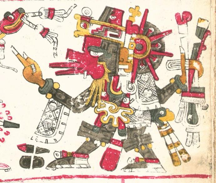 Quetzalcóatl dios azteca Códice Borgia