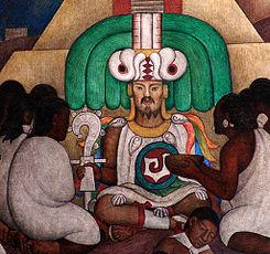 Ce Acatl Topiltzin Quetzalcoatl por Diego Rivera