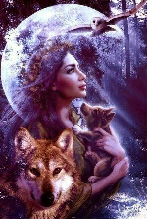 mujer bruja luna diosa