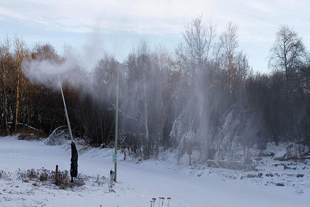 Nieve artificial en Alaska