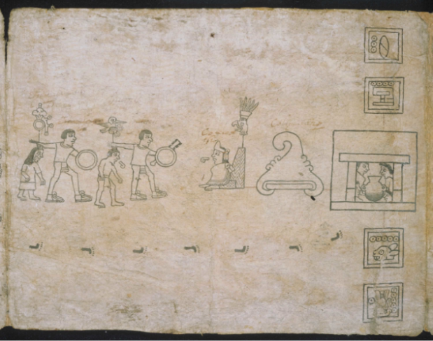 Codice Boturini 1540 papel amate tema tiempo