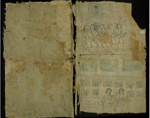 Codice de Iztapalapa papel amate S XVII tema poder