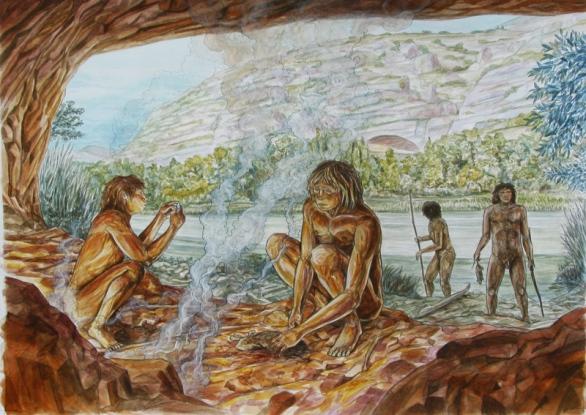 heidelbergensis y fuego