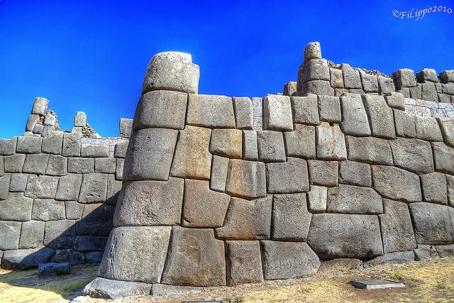 Sacsayhuaman esquinas redondas en piedra