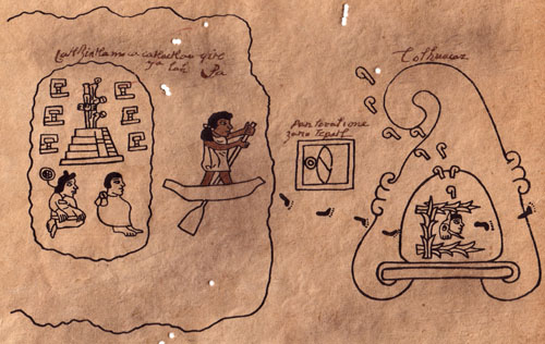 Tira de la Peregrinacion azteca