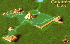 Chichen Itza Yucatan Mexico mapa
