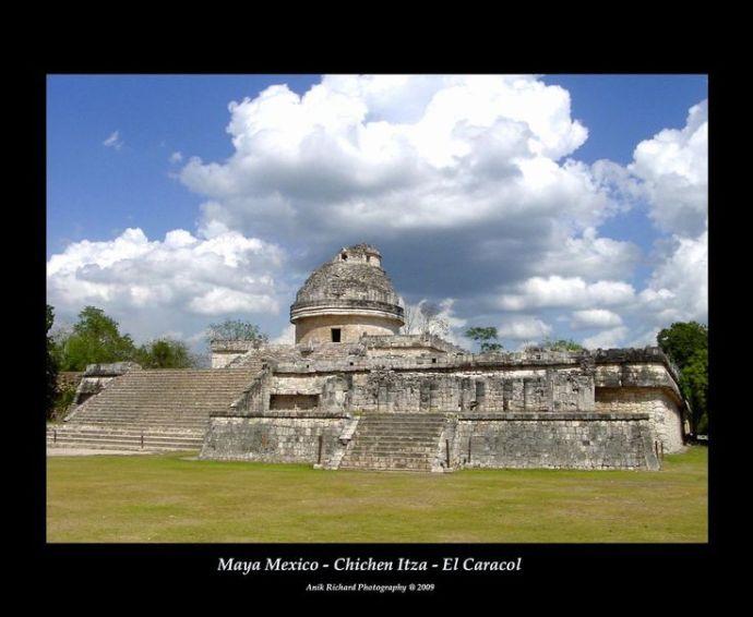El Caracol o El Observatorio Chichen Itza Mexico