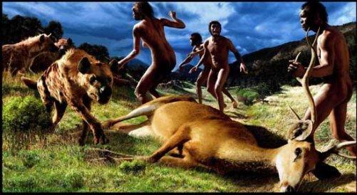 perros ayudando a cazar a humanos