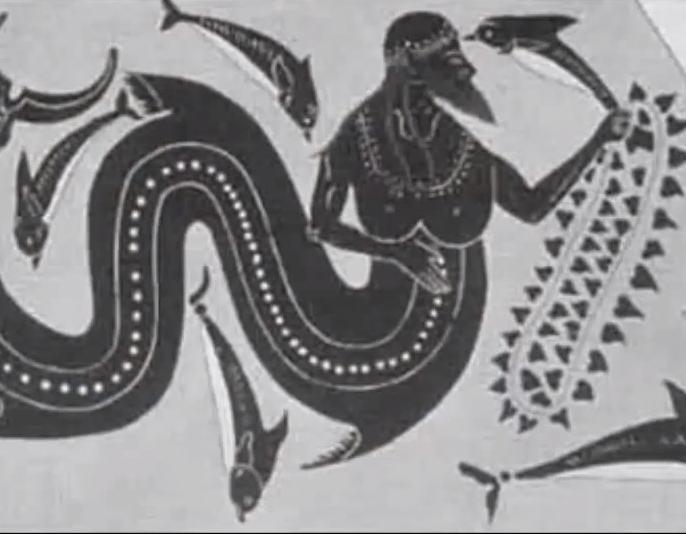 Dios con cola de pez