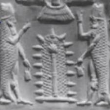 Enki o Ea dios pez sumerio