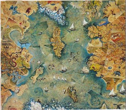 En busca de la Atlantida mapa Atlantico