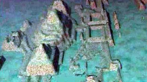 Ruinas sumergidas cerca de Cuba continente-de-la-atlantida