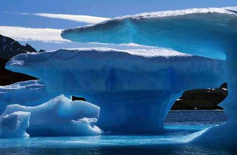 Glaciares Artico en deshielo