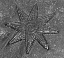 Estrella de ocho puntas, símbolo de Inanna/Ištar Museo del Louvre.