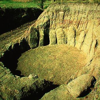 Imagen del cromlech cuando fue descubierto