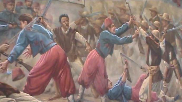 Batalla del 5 de mayo Zacapoatlas vs zuavos