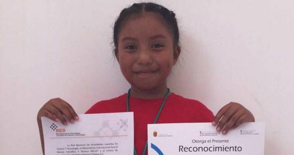 Otorgan por primera vez a una niña premio de ente mexicano de Ciencia Nuclear