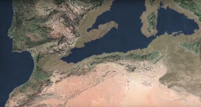 Una gigantesca inundación llenó el Mediterráneo en solo dos años